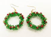 Wirework Christmas Wreath Earrings Pattern Coiling Gizmo Pattern